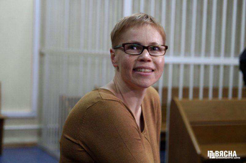Марына Золатава ў судзе.