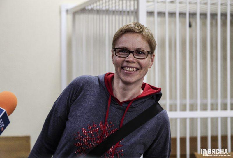 Maryna Zolatava in court