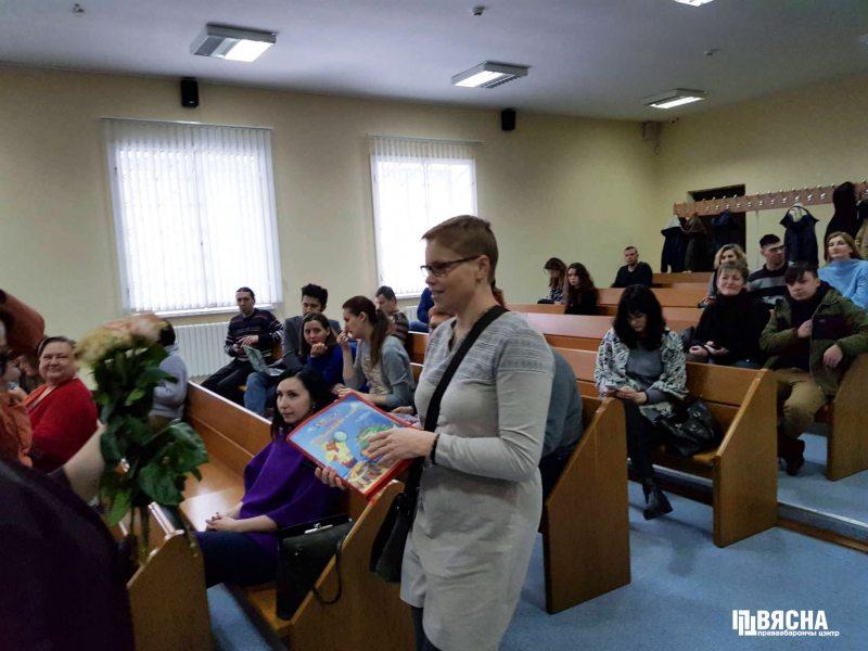 Другі дзень суда над Марынай Золатавай.